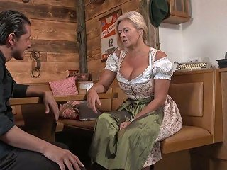 XCafe Video - Wrinkled Auburn Pub Owner With Pierced Cunt Maria Montana Is Fucked Doggy