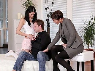 AnySex Video - Ginger Czech MILF Gabrielle Gucci Is Teaching One Young Couple How To Make Love