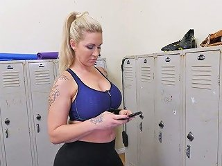 AnySex Video - Young Dude Fucks Mega Busty Tattooed MILF Ryan Conner In The Locker Room