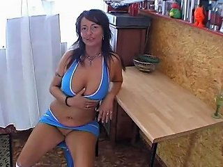 HDZog Video - German Pierced Mama With A Cucumber