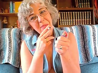 IcePorn Video - Hot Granny With Short Curly Hair And Glasses Has Young Pussy