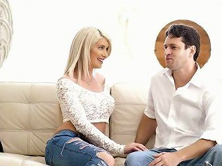 XCafe Video - As Soon As Busty Blondie Riley Jenner Gets Rid Of Jeans She Gets Analfucked