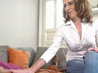 AnySex Video - Naughty Mature Woman Viol Knows How To Make Her Young Lover Cum Several Times