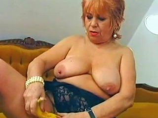 XHamster Video - Chubby Mature Stuffed A Banana Inside Her Pussy Porn 25