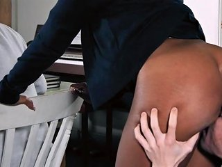 XBabe Video - Hot Ebony Mom Takes Young Boy For A Round Of Hardcore