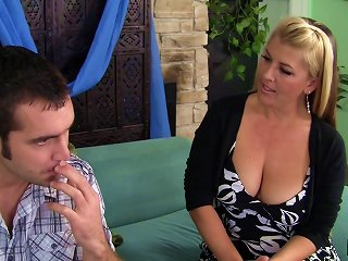 AnyPorn Video - Mom Invites The Gardener In To Pound Her Hairy MILF Pussy