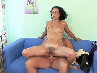 GotPorn Video - Young Boy Seduce Hairy Step Mom To Get His First Fuck