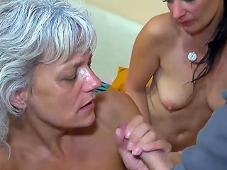 BravoTube Video - Oldnanny Group Sex Threesome Young Girl With Mature Group Sex
