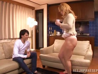 BravoTube Video - A Younger Guy Feeds His Cock To A Sexy Japanese Milf