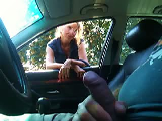 BravoTube Video - Busty Blonde MILF Gives A Blowjob To A Black Stud Outdoors