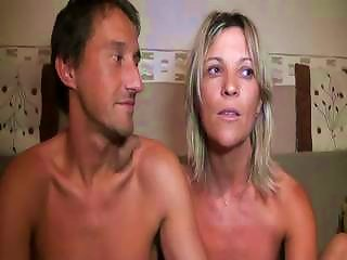 DrTuber Video - Cute French Blonde Milf With Her Man Blows Rod And Bangs On Couch