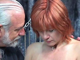XHamster Video - Mature Redheaded Slave With Saggy Tits Is Whipped In