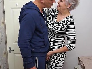 AnyPorn Video - Mature Short Haired Granny Lady Sextacy Gets On Her Knees Any Porn
