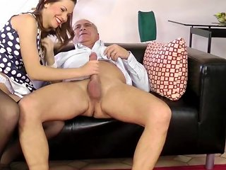 YouPorn Video - Classy Euro Pleasing Old Mans Dick