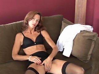 XHamster Video - Slim Old Spunker In Sexy Stockings Is Feeling Horny