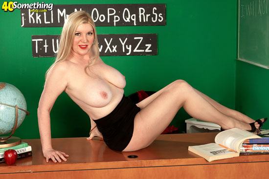 Busty mature teacher